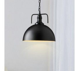 WinSoon 30cm Industrial Metal Black Pendant Light Antique Lampshades Lights Fixtures