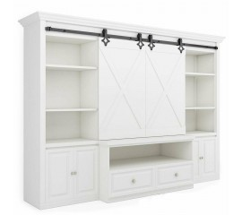 Winsoon 4-10FT Classic Super Mini Sliding Barn Double Door Hardware Kit Cabinet TV Stand Console Heavy Duty