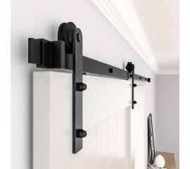 Sliding Barn Door Hardware Kit For Single Door  I Shape