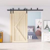 Bypass Bi-part Sliding Barn Door Hardware rack Kit I Style Wall Mount