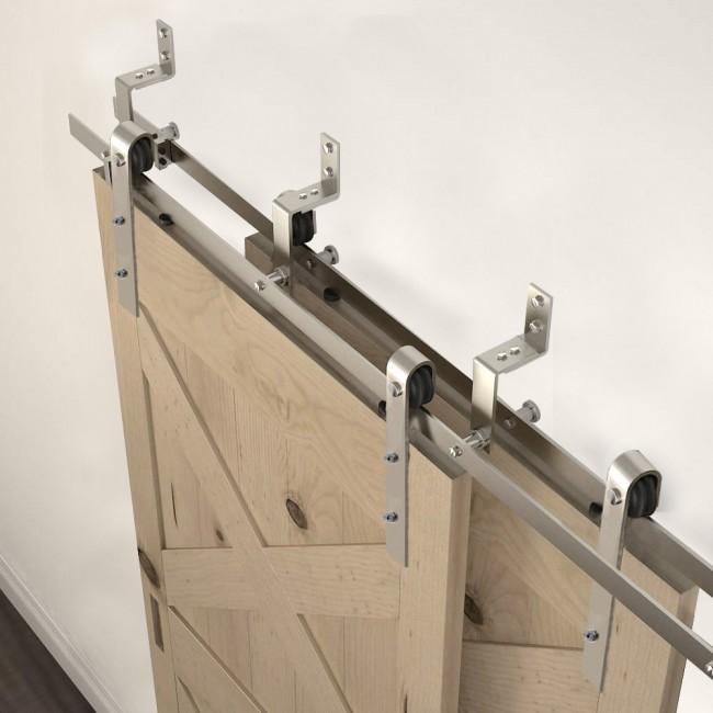 Winsoon 4 18ft Modern Sliding Bypass Barn Door Hardware