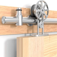 Single  Sliding Barn Door Hardware Kit Top Mount Spoke