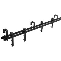 WinSoon 4-18FT Retro 4 Doors Bypass Sliding Barn Door Hardware Track Kit (Bent)