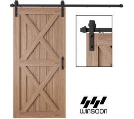 Sliding Barn Door Hardware Track Kit For Double Single Door  J Shape