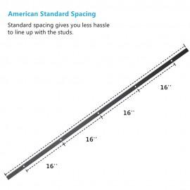 Sliding Track Rail For Sliding Door Black Steel (Only Track)