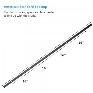 Sliding Track Rail For Sliding Door Black Steel (Only Track)