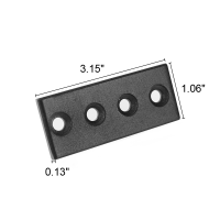 Sliding Track Rail For Sliding Barn Wood Door Hardware  Black Steel (Only Track)