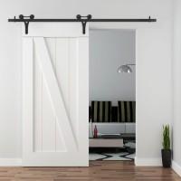 WinSoon 5-18FT(1.5-5.5M) Decorative Sliding Barn Door Hardware Track Kit New Design