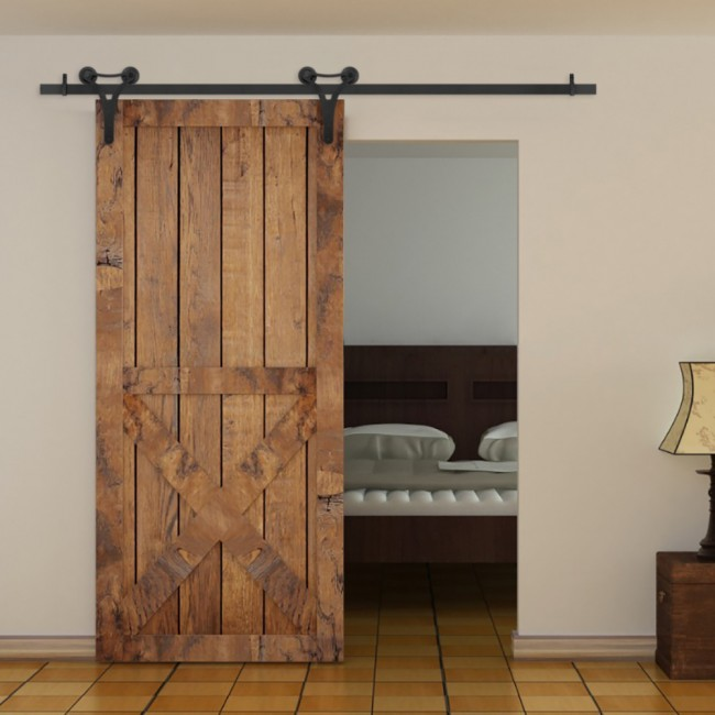 winsoon 5 18ft15 55m decorative sliding barn door With decorative barn door track