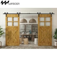 WinSoon 5-18FT(1.5-5.5M) Decorative Sliding Barn Door Hardware Track Kit New Design