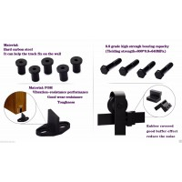 WinSoon 5-16FT Sliding Barn Door Hardware Track Kit Horseshoe U-Shape