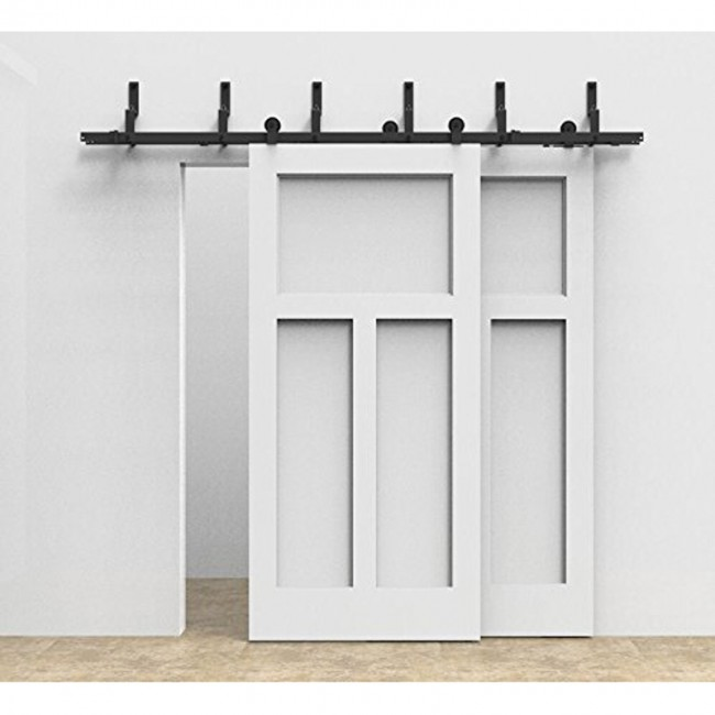 sliding barn door hardware menards bypass double track kit modern basic 12 foot amazon wood