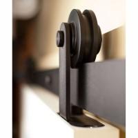 WinSoon 4-18FT Modern Barn Door Hardware Sliding Track Kit Black T-Shape