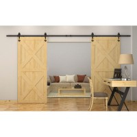 WinSoon 5-16FT Sliding Barn Wooden Door Hardware Track Closet Kit W-Shape