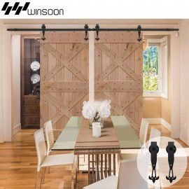 WinSoon 5-16FT New Design Decorative Sliding Barn Wooden Door Hardware Track Closet Set