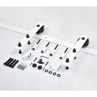 WinSoon 5-16FT Single/Double Barn Door Hardware Track Kit Bent Modern White Barn Door Hardware