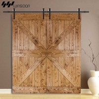 WinSoon 5-16FT Sliding Barn Door Hardware Aluminum Rollers Track Kit Cabinet Closet Arrow Style