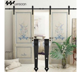 WinSoon 5-16FT Sliding Barn Door Hardware Aluminum Rollers Track Kit Cabinet Closet Arrow