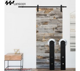 WinSoon 5-16FT Sliding Barn Door Hardware Aluminum Rollers Track Kit Cabinet Closet I-Shape