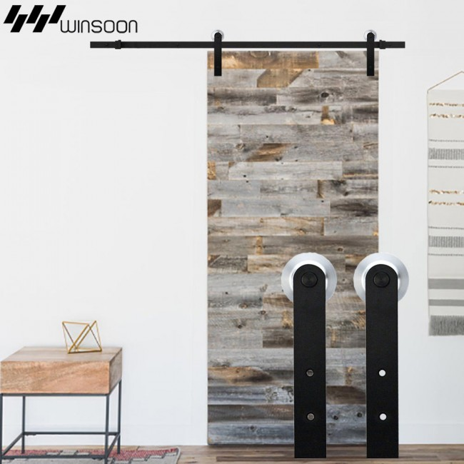 Winsoon 5 16ft Sliding Barn Door Hardware Aluminum Rollers Track Kit
