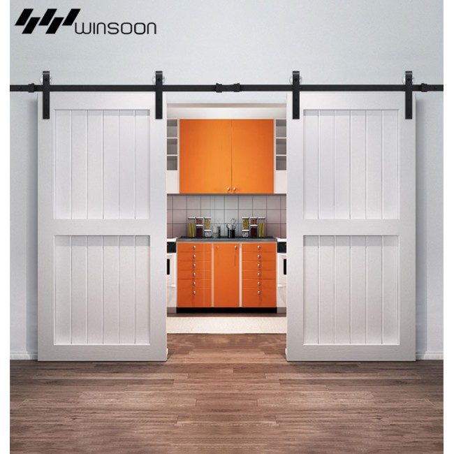 Winsoon 5 16ft Sliding Barn Door Hardware Aluminum Rollers Track Kit Cabinet Closet J Shape