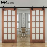 WinSoon 5-16FT Sliding Barn Door Hardware Aluminum Rollers Track Kit Cabinet Closet Rhombic