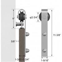 Sliding Barn Door Hardware Double Doors Kit Stainless J Shape