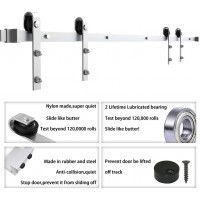 WinSoon 4-18FT Sliding Barn Door Hardware Double Doors Stainless Track Kit