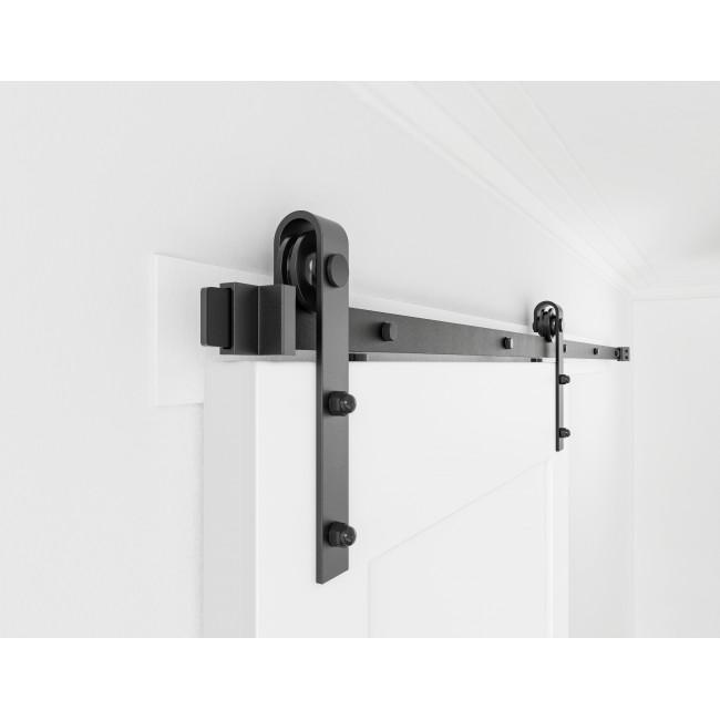 WinSoon 4 18FT Sliding Barn Door Hardware Double/Single Track Kit Bent  Straight
