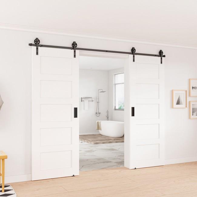 Winsoon 5 16ft sliding barn door hardware single door for 10 foot barn door track