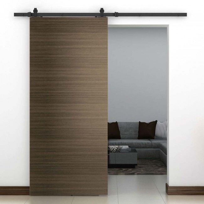 Winsoon 4 16ft sliding barn door hardware single door for Single sliding barn door