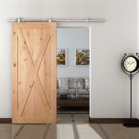 WinSoon 5-16FT Sliding Barn Door Hardware Single Wood Door Stainless Track Kit