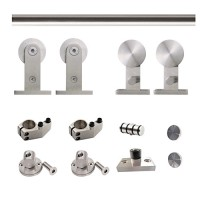 WinSoon 5-16FT Sliding Barn Door Hardware Stainless Track Kit For Double Doors