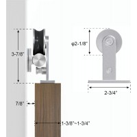 WinSoon 4-18FT Sliding Barn Door Hardware Stainless Track Kit For Double Doors