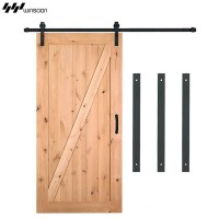 WinSoon 4-18FT Sliding Barn Wood Door Hardware Track Black(Only Track)