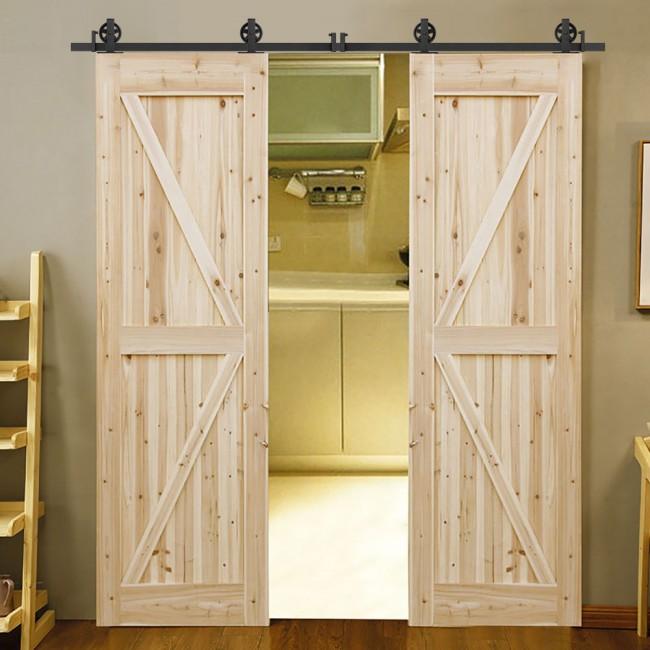 Winsoon 4 18ft Sliding Barn Door Hardware Kit Big Spoke