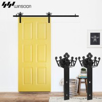 WinSoon 5-18FT New Decorative Sliding Barn Door Hardware Track Kit Crown Original Design