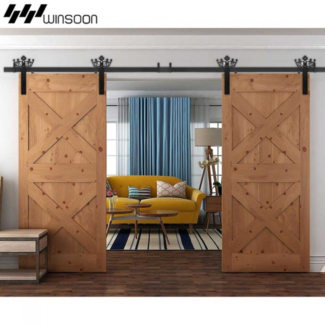 Winsoon 5 18ft Sliding Barn Door Hardware Aluminum Rollers Track Kit