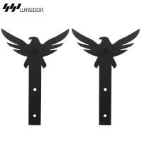 WinSoon 5-18FT Sliding Barn Door Hardware Aluminum Rollers Track Kit Cabinet Closet Eagle Design