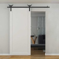 WinSoon 5-18FT Sliding Barn Door Hardware Aluminum Rollers Track Kit Cabinet Closet Eagle Design