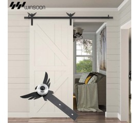 WinSoon 5-18FT Sliding Barn Door Hardware Aluminum Rollers Track Kit Cabinet Closet Eagle
