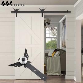 WinSoon 5-18FT Sliding Barn Door Hardware Aluminum Rollers Track Kit Cabinet Closet Eagle