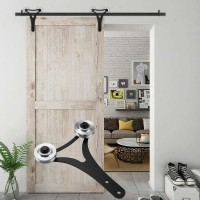 WinSoon 5-18FT Sliding Barn Door Hardware Aluminum Rollers Track Kit Cabinet Closet New