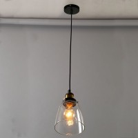 WinSoon Design Vintage Industrial Ceiling Lamp Clear Glass For Kitchen Loft Shade Fixture All Products