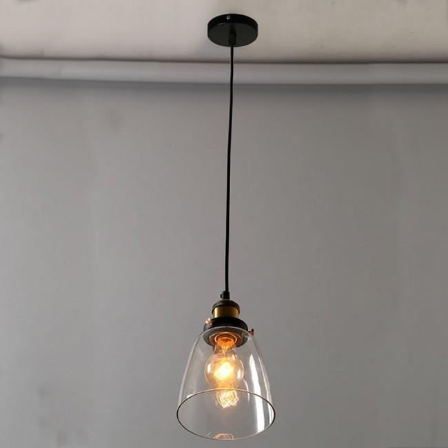 kitchen glass pendant lighting winsoon design vintage industrial lamp clear glass for 4914