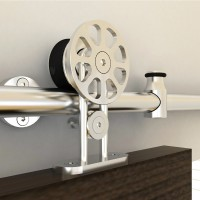 WinSoon 5-8FT Modern Sliding Single Barn Wood Door Hardware Stainless Track Kit Barn Door Hardware
