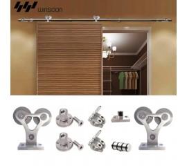 WinSoon 4-18FT Sliding Barn Door Hardware Stainless Track Single Door Rail Kit
