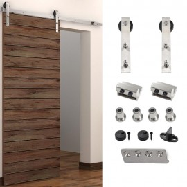 WinSoon 5 16FT Sliding Barn Door Hardware Single Door Stainless Track Kit