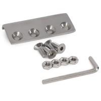 WinSoon 5-16FT Sliding Barn Door Hardware Single Door Stainless Track Kit