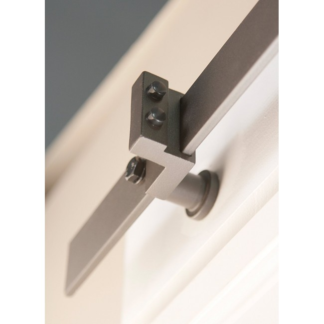 Bypass barn door hardware stainless winsoon 816ft sliding for Single sliding barn door